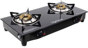 Lifelong Glass top Gas stove, 2 Burner Gas Stove