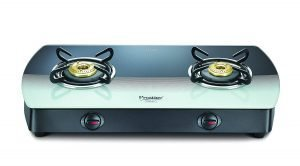 Prestige Premia Glass 2 Burner Gas Stove